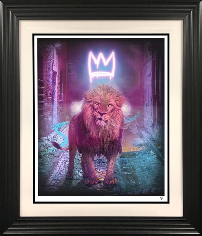 King Of The Urban Jungle - Pink - Black - Framed by JJ Adams