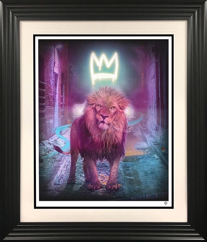 King Of The Urban Jungle - Yellow-Gold - Black - Framed by JJ Adams