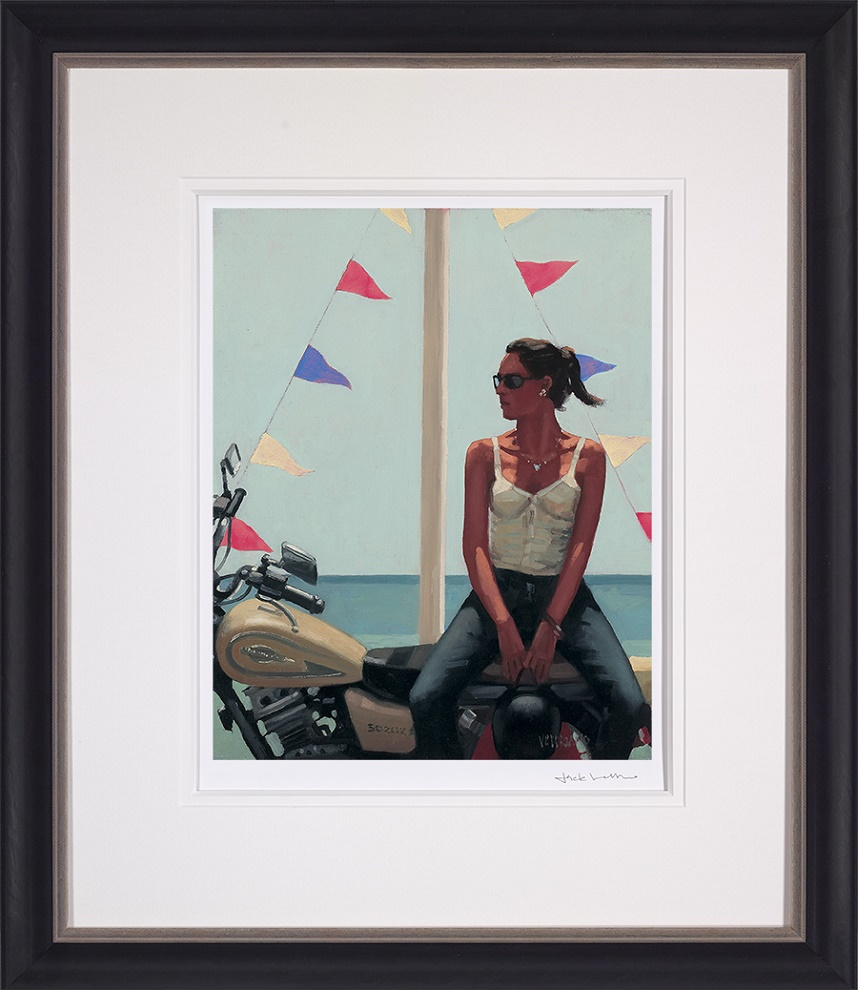 La Fille a la Moto - Framed by Jack Vettriano