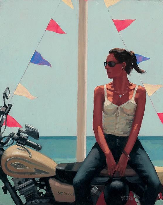 La Fille a la Moto  by Jack Vettriano