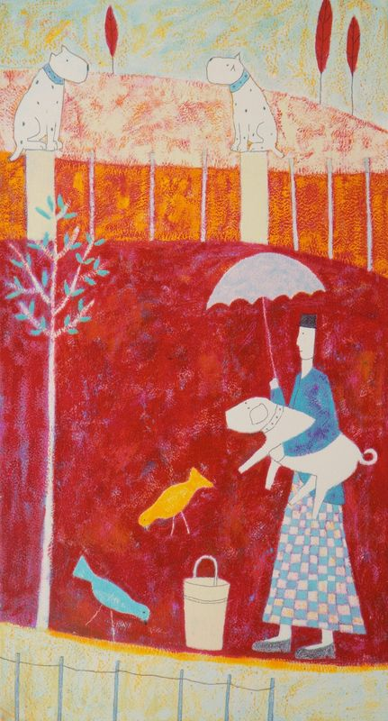 Lady With Pig by Annora Spence