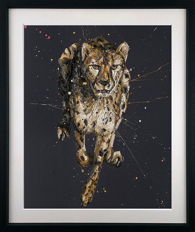 Lance - Artist Proof Black - Framed by Paul Oz