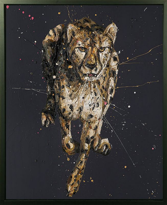 Lance - Canvas - Artist Proof Black Framed Box Canvas by Paul Oz