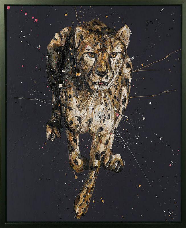 Lance - Canvas - Black Framed Box Canvas by Paul Oz