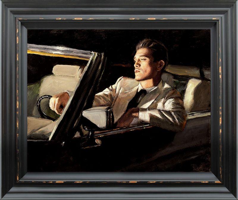Late Drive II - Framed by Fabian Perez