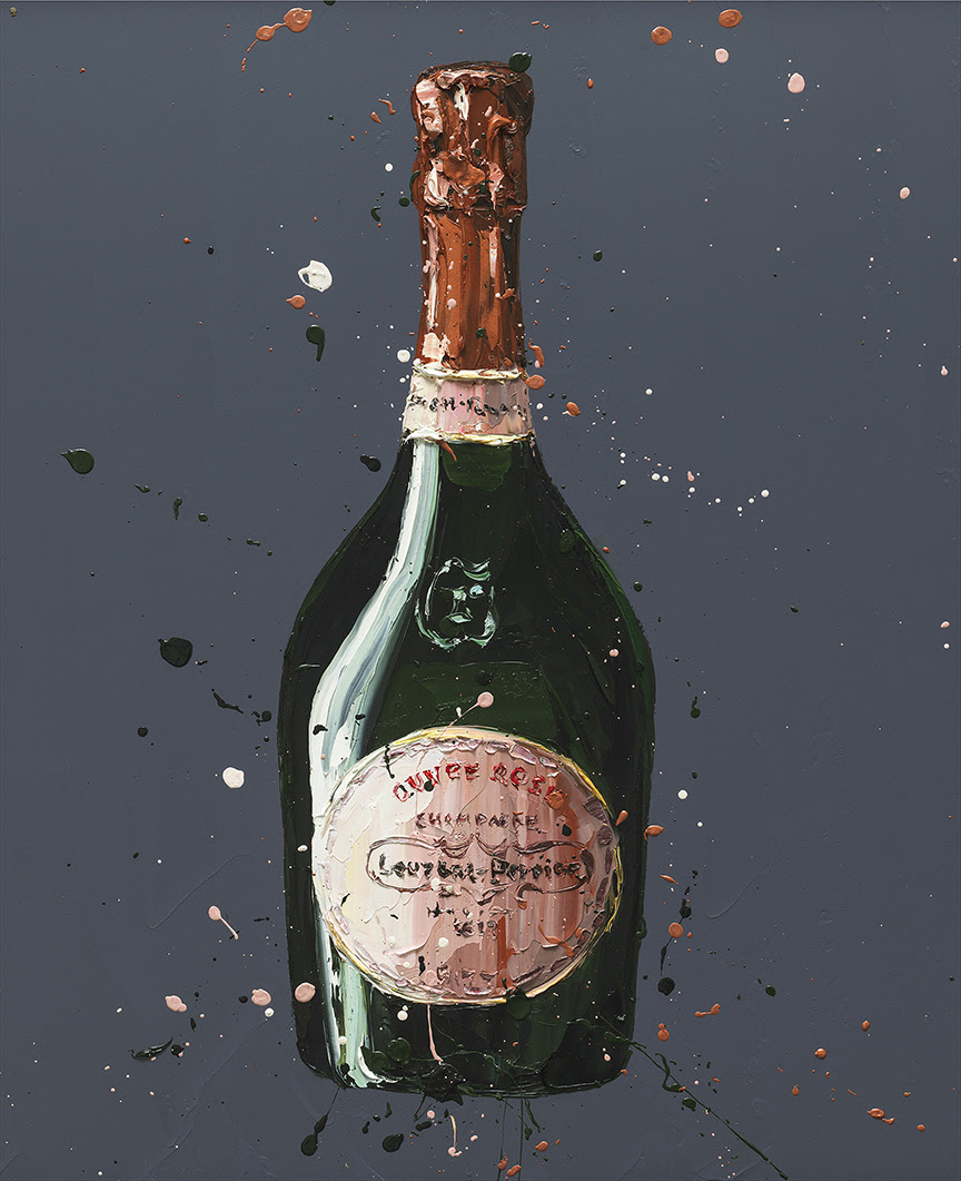 Laurent Perrier Rose - Canvas - Framed by Paul Oz