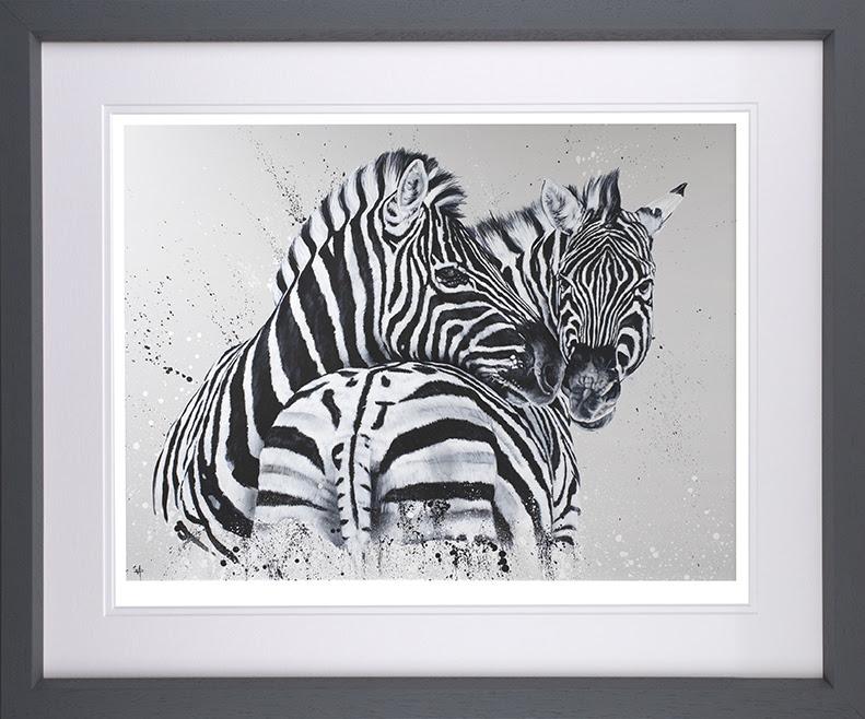 Lean On Me - Artist Proof Grey - Framed by Dean Martin *Mad Artist