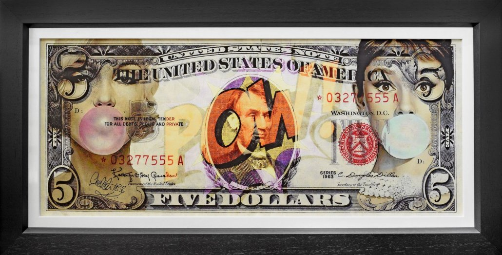 Legal Tender (Artist Proof) - Box Canvas - Black Framed Box Canvas by Onelife183