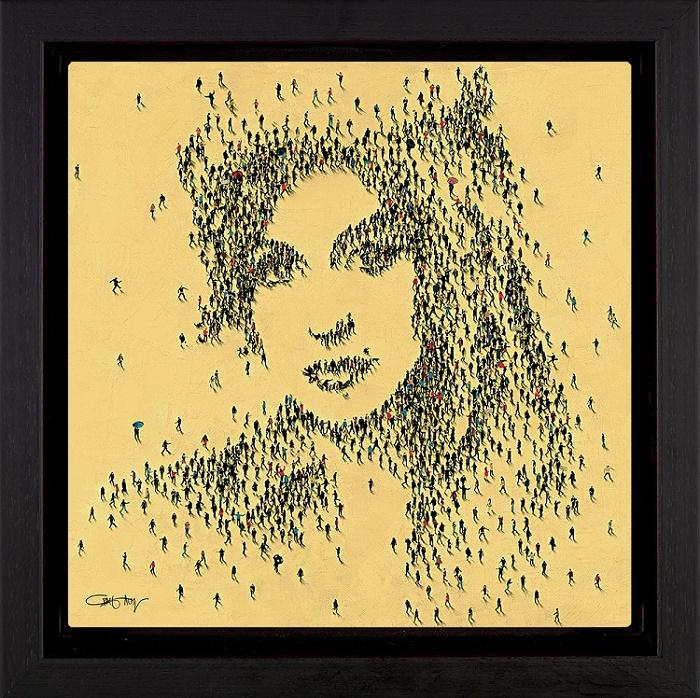 Legend - Amy Winehouse - Framed Box Canvas by Craig Alan