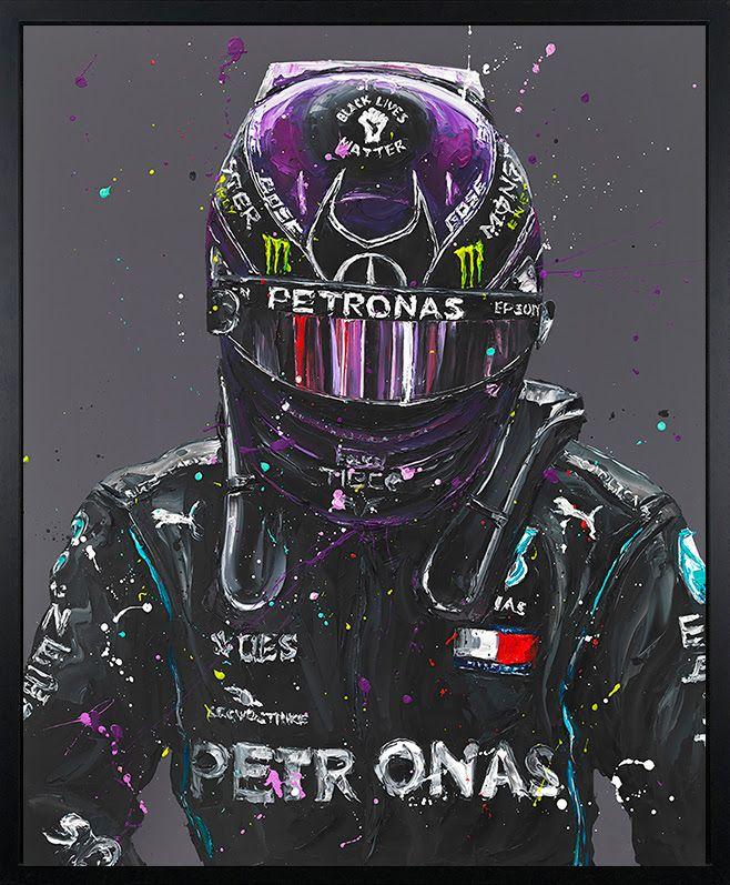 Lewis 2020 - Canvas - Black - Framed by Paul Oz