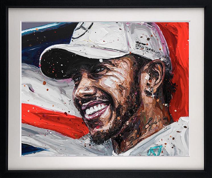 Lewis Title 18 (Lewis Hamilton) - Framed by Paul Oz