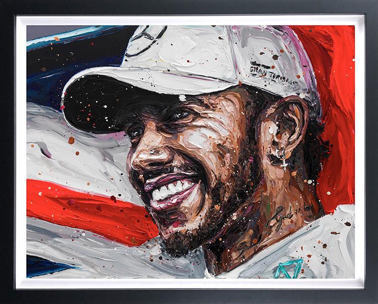 Lewis Title 18 (Lewis Hamilton) - Canvas - Framed by Paul Oz
