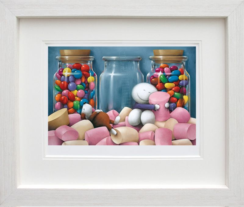 Life Is Sweet - White Framed by Doug Hyde