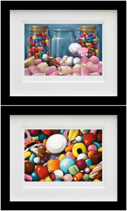 Life Is Sweet & Pick Me - Set - Black Framed by Doug Hyde
