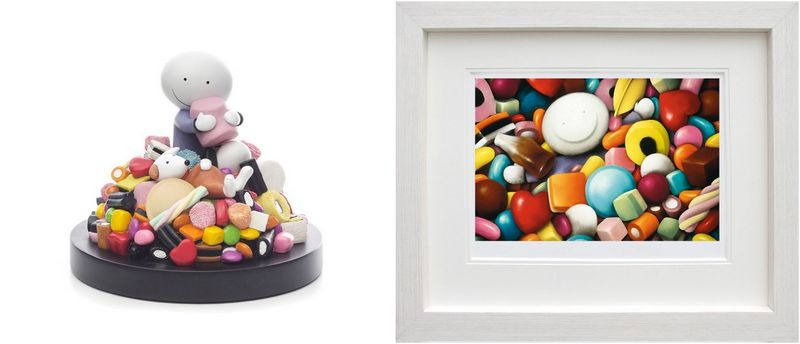 Life Is Sweet - Sculpture And Pick Me - Set - White Framed by Doug Hyde