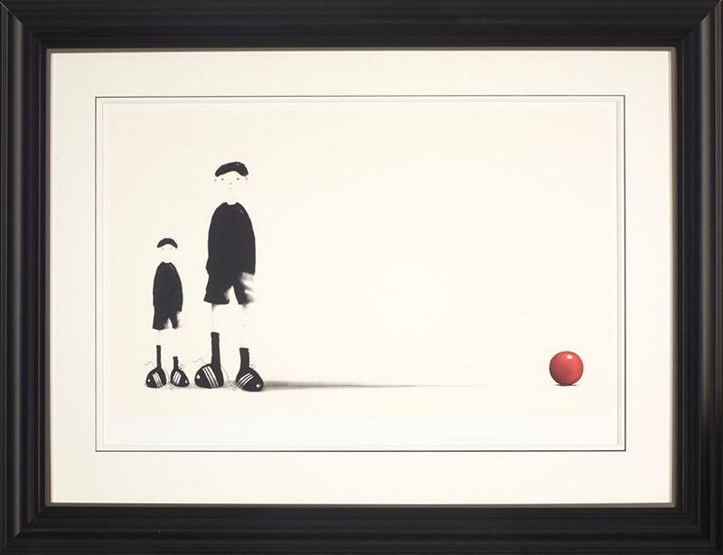 Like Father Like Son - Black - Framed by Mackenzie Thorpe