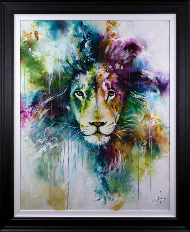 Lion 2019 - Artist Proof - Framed by Katy Jade Dobson