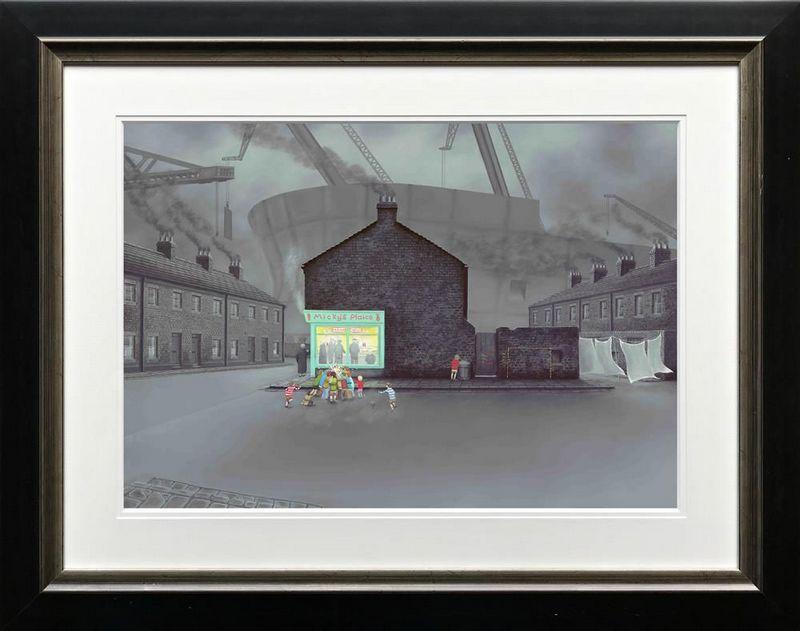 Little Davy's Got Chips And Gravy - Framed by Leigh Lambert