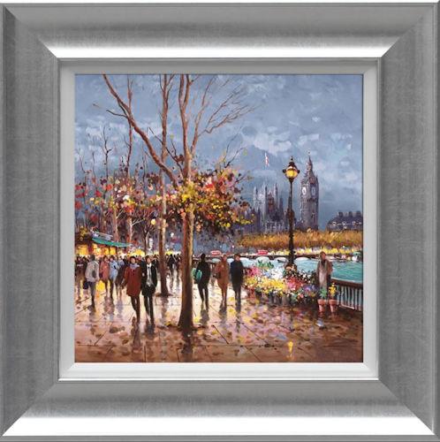 London By Lamplight - Framed