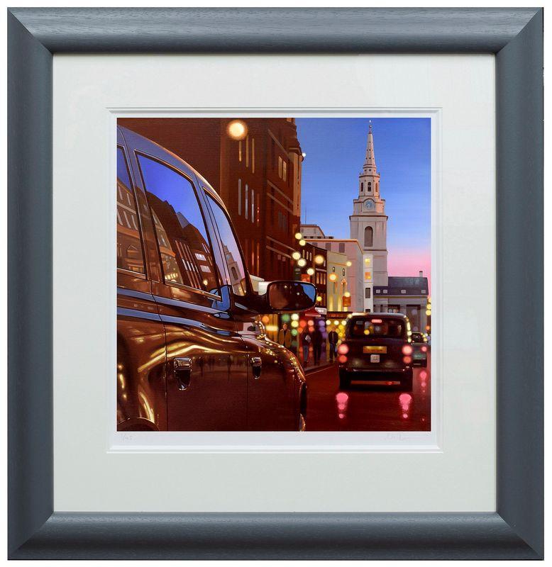London Dusk Reflections - Framed by Neil Dawson