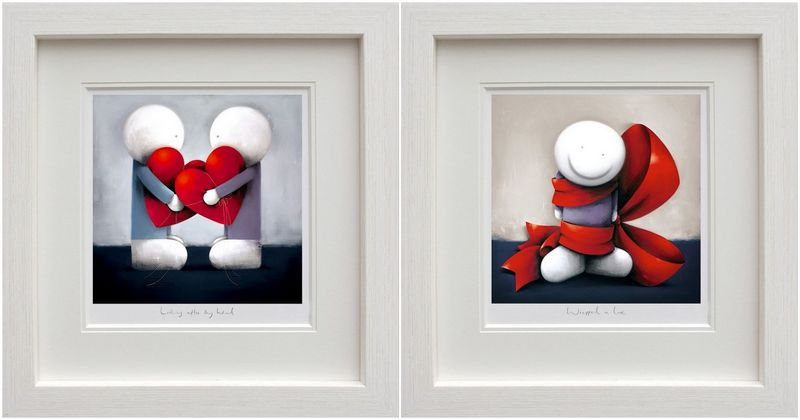 Looking After My Heart & Wrapped In Love - Set - Framed by Doug Hyde