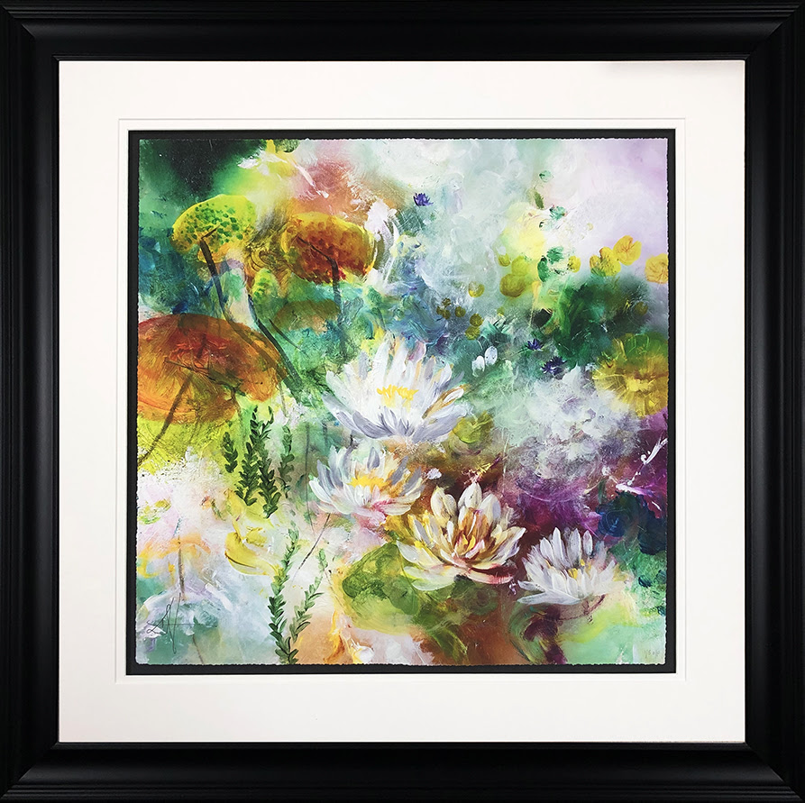 Lotus - In Black - Framed by Katy Jade Dobson