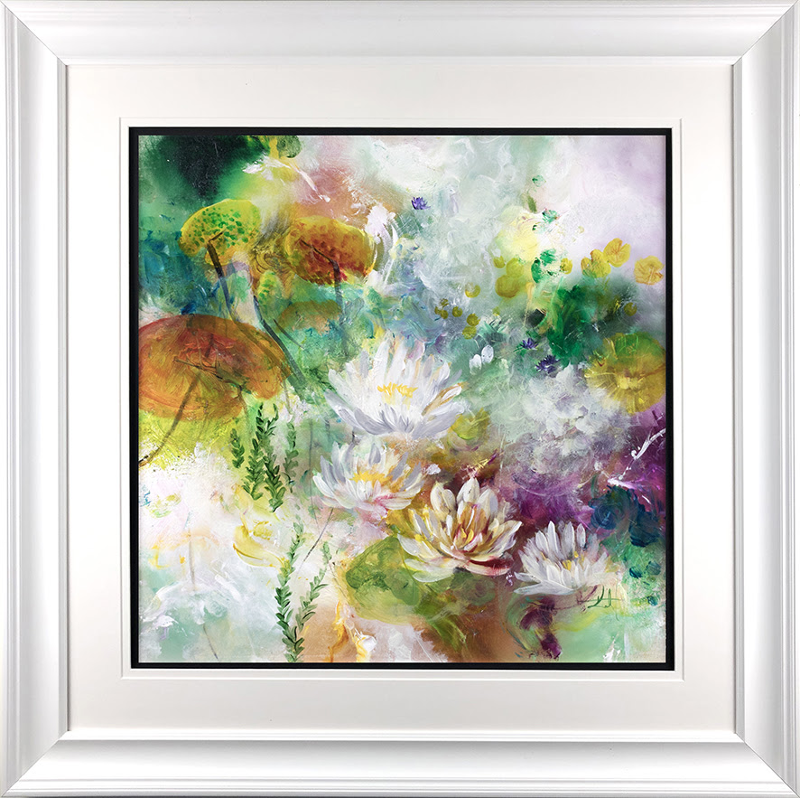 Lotus - In White - Framed by Katy Jade Dobson