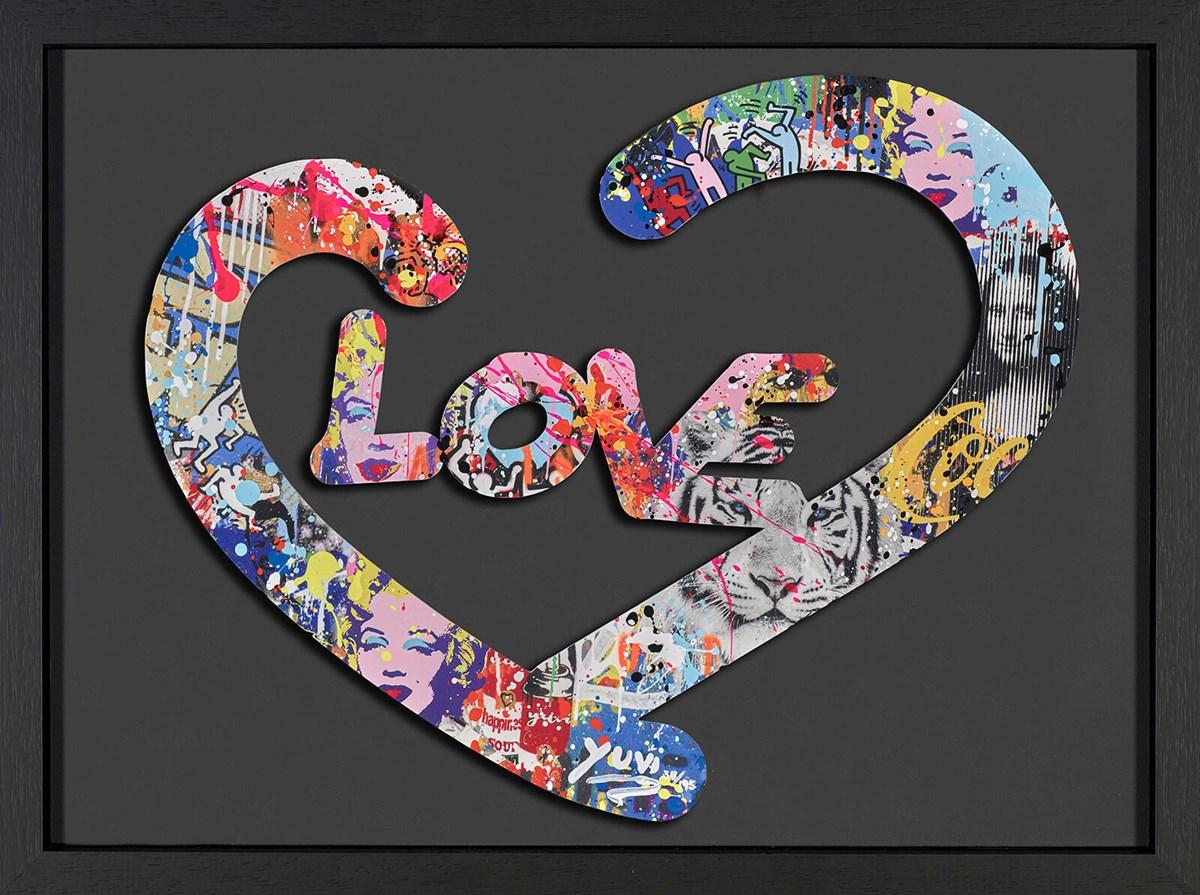 Love - Black Framed by Yuvi