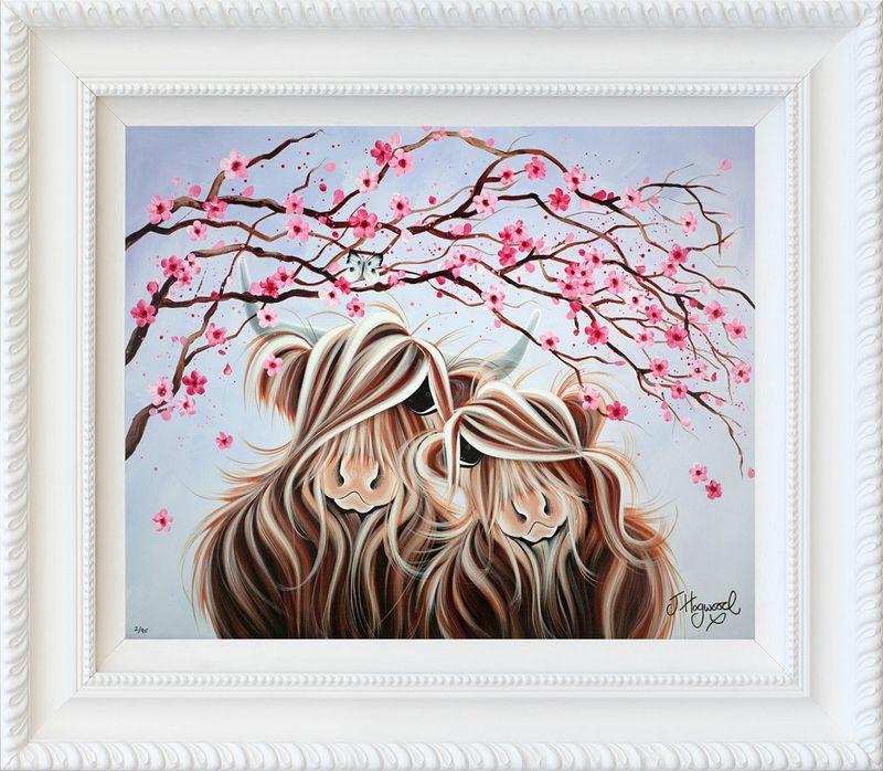 Love Blossoms - White - Framed by Jennifer Hogwood