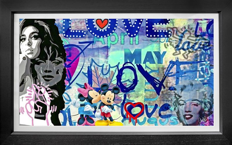 Love - On Board - Black - Framed by Onelife183