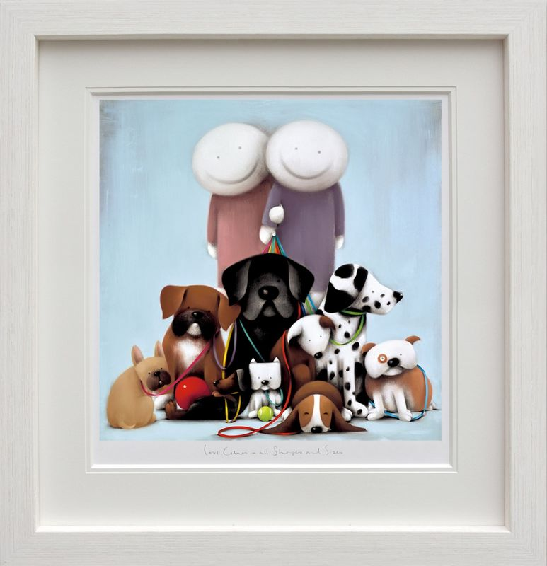 Love Comes In All Shapes And Sizes - White - Framed by Doug Hyde