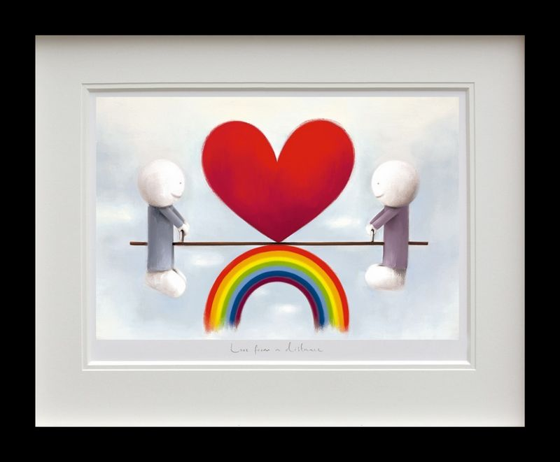 Love From A Distance - Black Framed by Doug Hyde