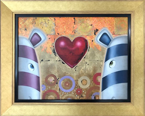 Love From Me To You - Framed  by Peter Smith