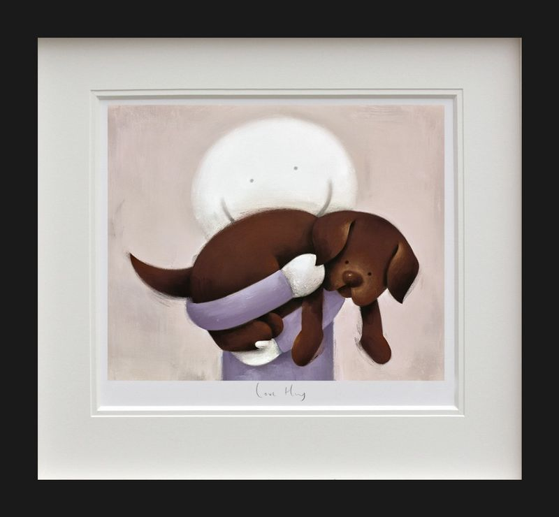 Love Hug - Black Framed by Doug Hyde
