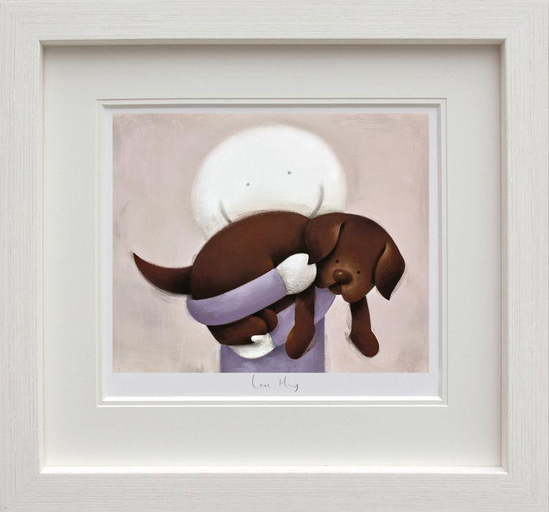 Love Hug - White Framed by Doug Hyde