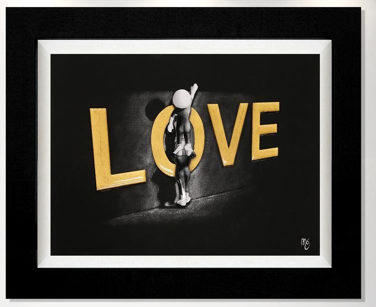Love Lifts Us Up - 3D High Gloss - Framed