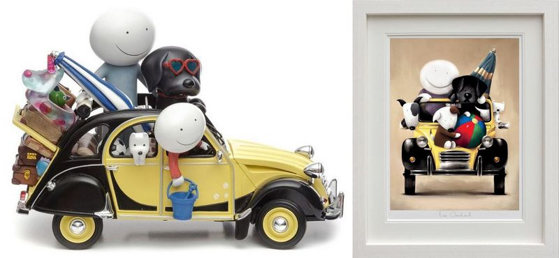 Love Overload - Set - White Framed by Doug Hyde