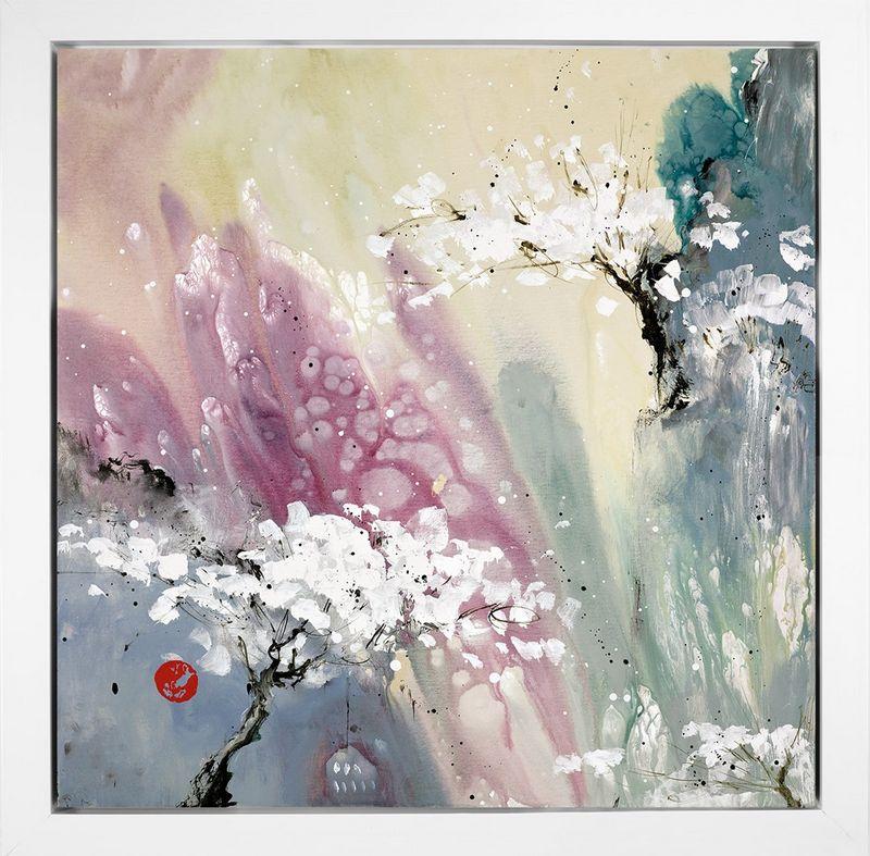 Love Poem I - Framed Box Canvas by Danielle O'Connor Akiyama