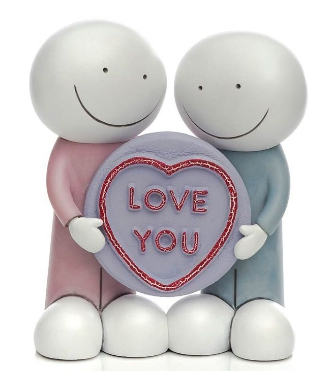 Love You - Sculpture by Doug Hyde
