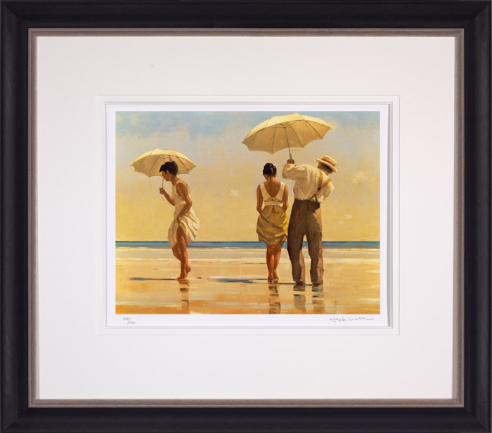 Mad Dogs (Small) - Framed by Jack Vettriano