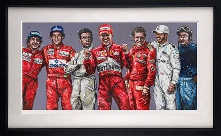Magnificent 7 - Artist Proof Black - Framed by Paul Oz