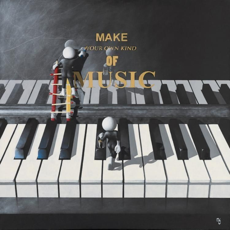 Make Your Own Music - 3D High Gloss Resin - Framed by Mark Grieves