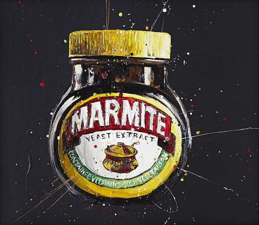Marmite - Canvas - Black Framed Box Canvas by Paul Oz