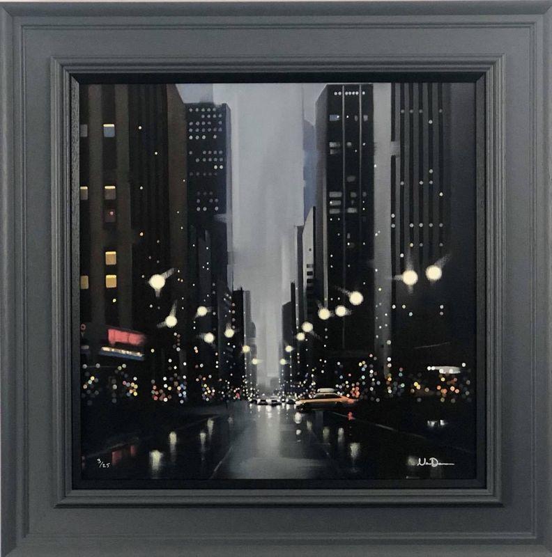 Mean Streets - Canvas - Grey - Framed by Neil Dawson