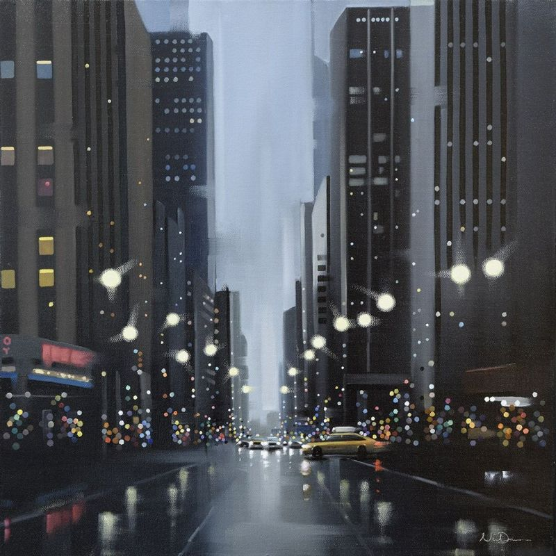 Mean Streets - Canvas - Black - Framed by Neil Dawson