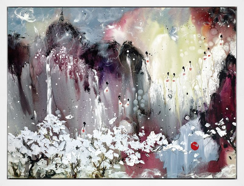 Meeting The Truth - Framed Box Canvas by Danielle O'Connor Akiyama