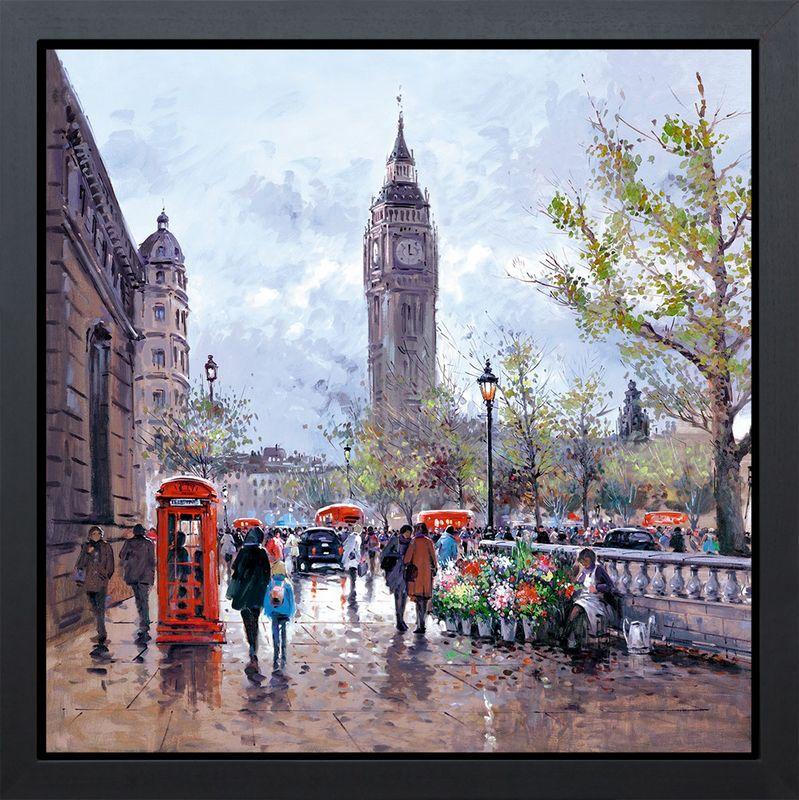 Memories Of London - Framed - Box Canvas by Henderson Cisz