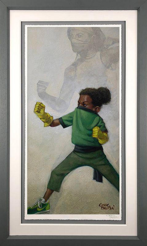 Minimal Kombat - Artist Proof Grey - Framed by Craig Davison