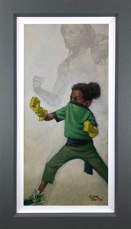 Minimal Kombat - Canvas - Grey - Framed by Craig Davison