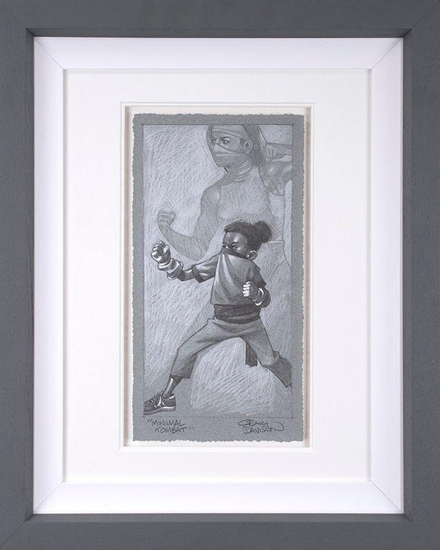 Minimal Kombat - Sketch - Grey - Framed by Craig Davison